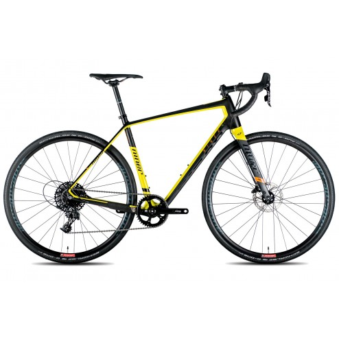 Gravel Bike Niner RLT 9 RDO black/yellow with SRAM Rival X1 hydraulic