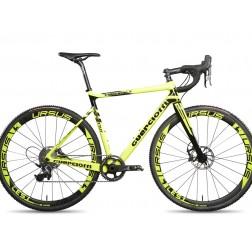 Cyclocross Bike Guerciotti Eureka CX Design yellow with SRAM Red eTap hydraulic